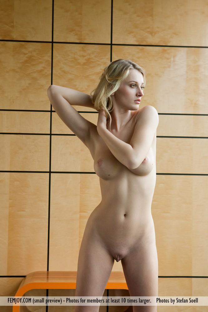 Nude asian brunette